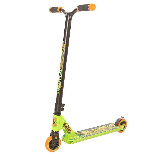 Самокат трюковой Slamm Scooters Urban Iv Green/Orange