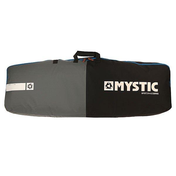 Чехол для вейкборда Mystic Star Kite/Wake Boardbag Double Boots BlackНадежный дорожный чехол для твоего снаряжения. Доски внутри надежно фиксируются, найдется место и для креплений. Характеристики:Прочный600D полиэстер. Внутренний крепежный ремень. Мягкая пенная прослойка 8 мм. Вмещает несколько досок. Пространство для креплений. Прочная молния. Плечевой ремень. Ручки для переноски.<br><br>Цвет: черный,серый<br>Тип: Чехол для вейкборда<br>Возраст: Взрослый<br>Пол: Мужской
