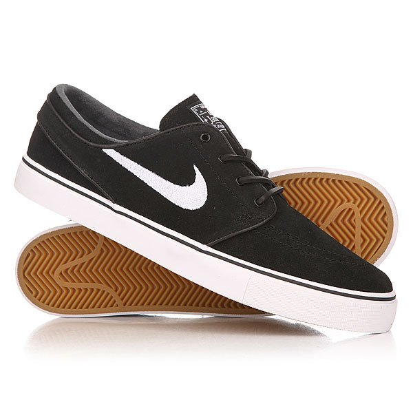 Кеды кроссовки низкие Nike Zoom Stefan Janoski Og Black/White-Gum/Light Brown