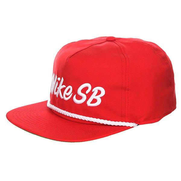 Бейсболка с прямым козырьком Nike SB Unstructured Dri Fit Pro Red