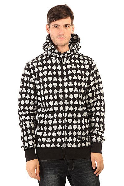Толстовка классическая Fallen Cobra Hood Fleece Black/White/Suits ремень fallen liberty belt white black