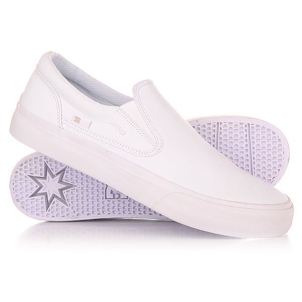 Слипоны DC Shoes Trase Slip-on TX White