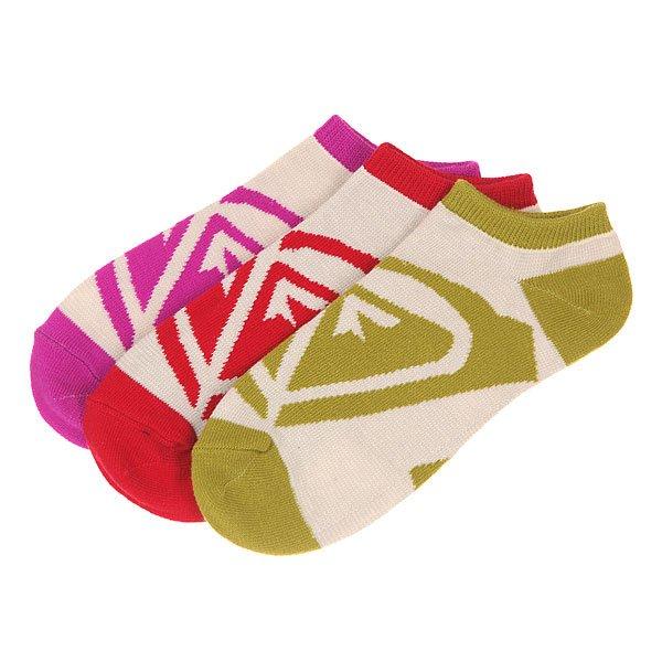 Носки низкие женские Roxy Inside Roxy Stripe Logo Persimmon