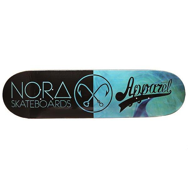 Дека для скейтборда для скейтборда Nord x Mono Deep Blue 32.5 x 8.5 (21.6 см)Ширина деки: 8.5 (21.6 см)    Длина деки: 32.5 (82.6 см)    Количество слоев: 7<br><br>Цвет: черный,голубой<br>Тип: Дека для скейтборда