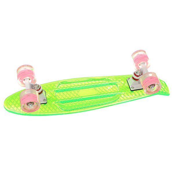 Скейт мини круизер Turbo-FB Cruiser Transparent Green 5.75 x 22 (55.9 см)