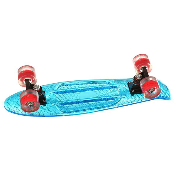 Скейт мини круизер Turbo-FB Cruiser Transparent Blue 5.75 x 22 (55.9 см)