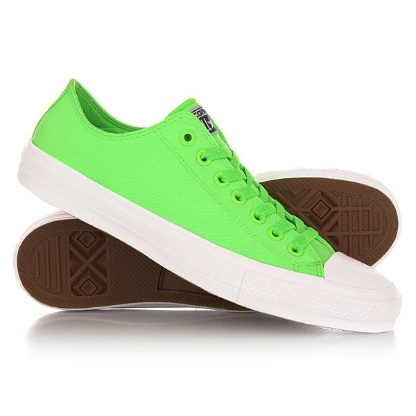 Кеды кроссовки низкие Converse Chuck Taylor All Star Ii Ox Green An Gecko слиперы chuck taylor all star cove converse