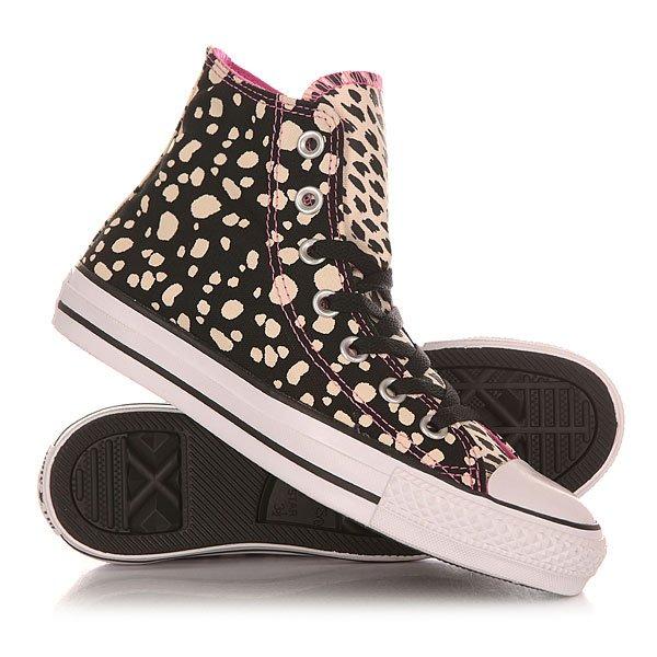 Кеды кроссовки высокие женские Converse Chuck Taylor All Star Black/Parchm