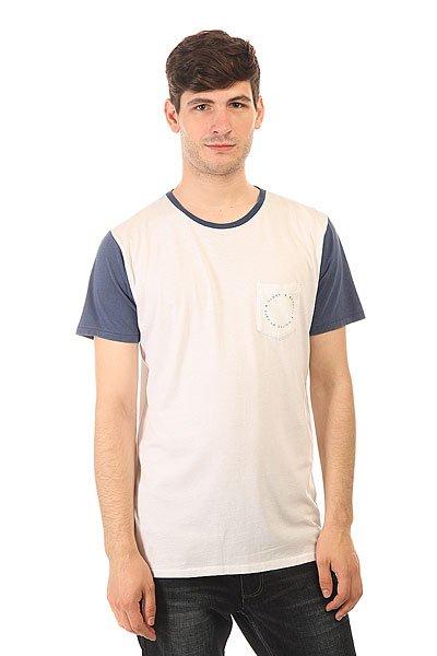 Футболка Globe Zissou Tee Capt Blue<br><br>Цвет: белый,синий<br>Тип: Футболка<br>Возраст: Взрослый<br>Пол: Мужской
