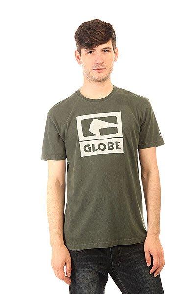 Футболка Globe Epidemic Tee Mineral Wash Vint Black<br><br>Цвет: зеленый<br>Тип: Футболка<br>Возраст: Взрослый<br>Пол: Мужской