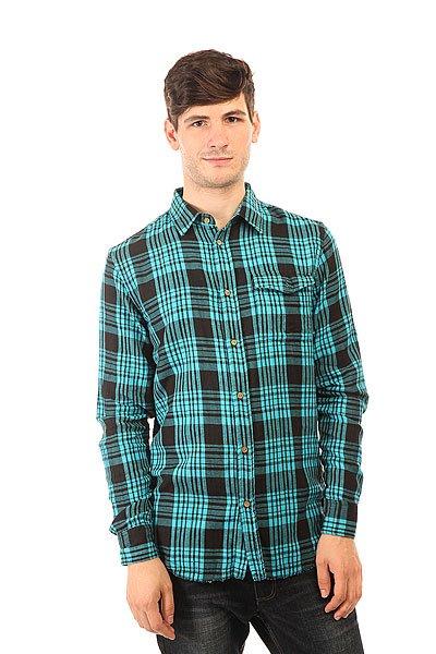 Рубашка в клетку Globe Portland Shirt Horizon<br><br>Цвет: голубой,черный<br>Тип: Рубашка в клетку<br>Возраст: Взрослый<br>Пол: Мужской