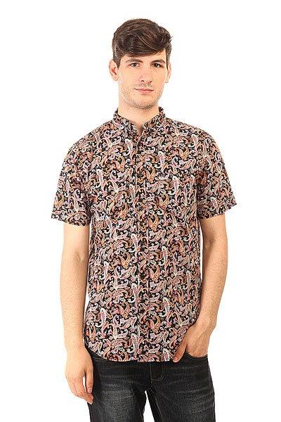Рубашка Globe Palme Shirt Black<br><br>Цвет: черный,мультиколор<br>Тип: Рубашка<br>Возраст: Взрослый<br>Пол: Мужской