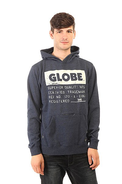 Толстовка кенгуру Globe 13th Hooded Navy куртка everlast hooded bubble navy купить