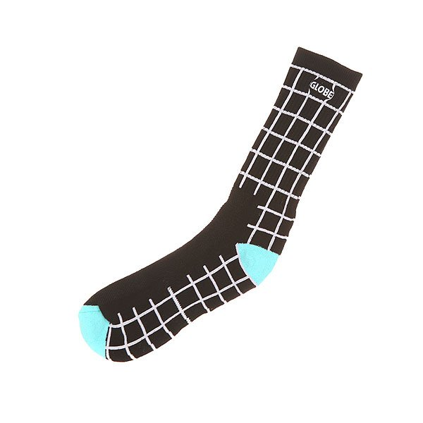 Носки средние Globe Motion Crew Sock Black Grid