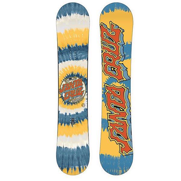 Сноуборд Santa Cruz Trip 156 DotСноуборд Santa Cruz Trip Dot - мужской сноуборд для начинающих.Он помягче остальных, прощает ошибки и позволяет легко оттачивать мастерство и получать массу позитива. Прогиб Surf Rocker и симметричная геометрия облегчит процесс обучения.Характеристики:HCM Базовый сердечник. Цельный кусок дерева от носа до пятки, ламинированный фирменным высокотехнологичным волокном с плетением в две нити. Прогиб Surf Rocker: парни из Санта-Круз говорят, что это самая экстремальная геометрия доски. По сути это слабовыраженный обратный прогиб. Доски с такой геометрией плывут как корабли по пухляку и весьма удобны для джибинга и катания в парке. Hetero Biax Tech Laminate 30+. Облегченное покрытие с плетением в две нити. Доски с таким покрытием достаточно упругие и прочные, при этом немного легче аналогов.Скользяк Speed X3000. Простой, долговечный и ремонтопригодный материал.Характерные особенности – хорошие абсорбирующие свойства этого материала, повышенная устойчивость к абразивному воздействию в сочетании с отличными скользящими характеристиками. То есть скользяк легко впитывает парафины, не лохматится и круто едет.<br><br>Цвет: синий,желтый,белый<br>Тип: Сноуборд<br>Возраст: Взрослый<br>Пол: Мужской