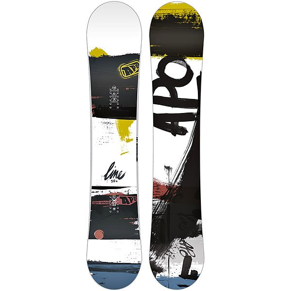 Сноуборд Apo Line Rocker 159 White/Black сноуборд apo iconic eero hybrid dual 161w black grey red