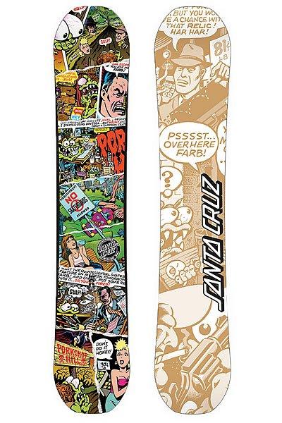Сноуборд Santa Cruz Comic 154 MultiНовая профессиональная доска для фристайла. Несмотря на то, что задумывалась она для использования в сноу-парках, она отлично катит и в пухляке. Полностью симметричная геометрия в сочетании с изгибом Snap Rocker делают эту доску идеальным инструментом для фристайла.Характеристики:Snap! Rocker: Еще одна забавная технология от Санта-Круз. По сути, это нечто среднее между классическим изгибом и Рокером. Идеальный инструмент для получения массы удовольствия как на пухляке, так и при джибинге в парке. HCM Fly+ Доработанный сердечник HMC из тополя.Конструкция с облегченными вставками и двумя слоями стекловолокна. Очень прочная и упругая конструкция. Сноуборды с таким сердечником легкие и управляемые. Hetero Biax Tech Laminate 45+: Облегченное покрытие с плетением в 2 нити. Идеально подходит для досок, предназначенных для прыжков и просто непринужденного катания в свое удовольствие. Speed X5000: Все тоже, что и у X3000, только скользит быстрее, впитывает и держит парафины лучше. Более устойчив к механическим воздействиям.<br><br>Цвет: мультиколор<br>Тип: Сноуборд<br>Возраст: Взрослый<br>Пол: Мужской