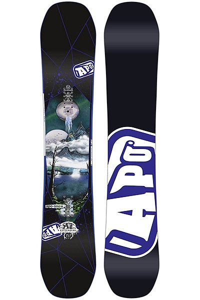 Сноуборд Apo Iconic-Sage Positive Camber 157 Black/White/Multi