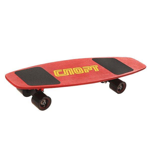 Скейт мини круизер Turbo-FB Советский Спорт Sport Red/Black 8 x 27.25 (69.2 см)