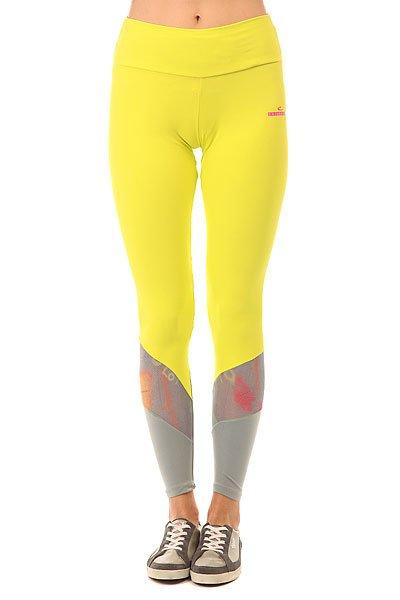 Леггинсы женские CajuBrasil Nz Pozitive Yellow<br><br>Цвет: серый,желтый<br>Тип: Леггинсы<br>Возраст: Взрослый<br>Пол: Женский
