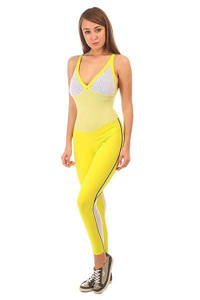 Комбинезон для фитнеса женский CajuBrasil Nz Cigarette Mix Yellow/Navy/White<br><br>Цвет: синий,желтый,белый<br>Тип: Комбинезон для фитнеса<br>Возраст: Взрослый<br>Пол: Женский