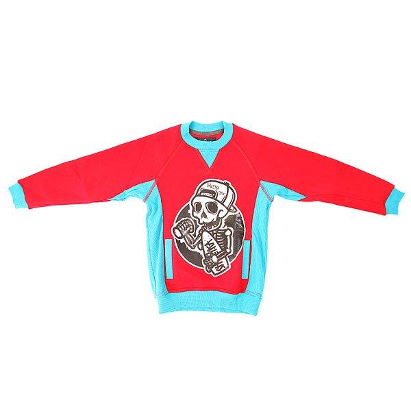 Толстовка свитшот детская Shweyka Crewneck Red/BlueСвитшот Crewneck, разработанный нашей командой, наверняка станет незаменимым элементом гардероба всех детей. Характеристики:Удлиненный крой.Качественный и натуральный материал. Оригинальный принт. Скрытый карман «кенгуру». Эластичные вставки в боках обеспечат свободу и легкость движений.Эластичные манжеты.<br><br>Цвет: красный,голубой<br>Тип: Толстовка свитшот<br>Возраст: Детский