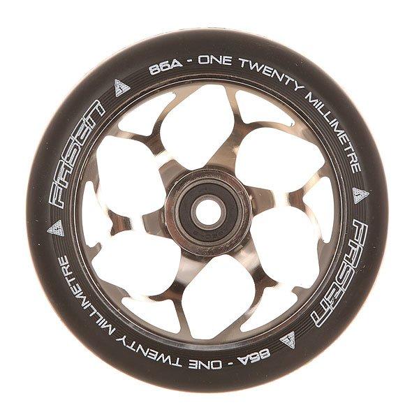 Колесо для самоката Fasen 120 Mm Wheel Chrome/BlackКолесо для самоката Fasen.Характеристики:Диаметр: 120 мм. Сердечник холодной ковки.ПУ твердость: 86A. Разработаны Брендоном Смитом. Подшипники ABEC 9.<br><br>Цвет: черный,серый<br>Тип: Колесо для самоката<br>Возраст: Взрослый<br>Пол: Мужской