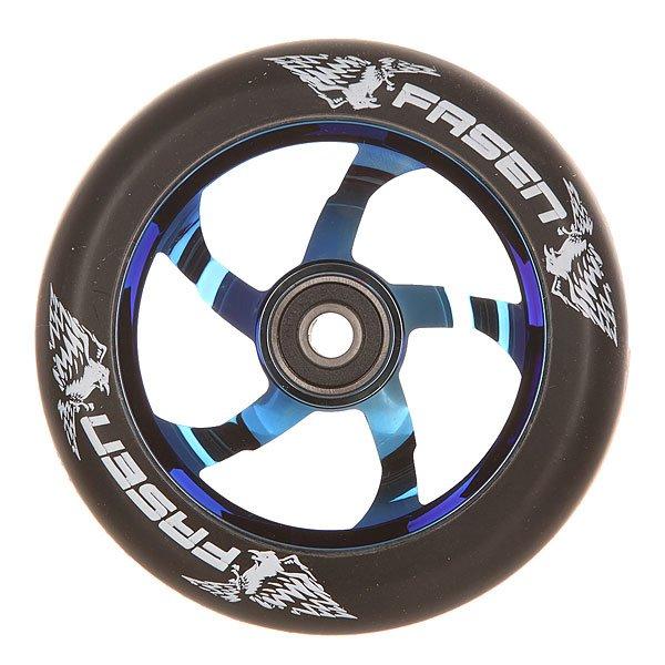 Колесо для самоката Fasen Raven Wheel Burnt Pipe/BlackКолесо для самоката Fasen Raven.Характеристики:Диаметр колес: 110 мм. Сердечник: алюминиевый, со спицами. Твердость PU: 88А.Предустановленные ABEC 9 подшипники. Вес: 223 г.<br><br>Цвет: синий,черный<br>Тип: Колесо для самоката<br>Возраст: Взрослый<br>Пол: Мужской