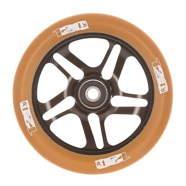 Колесо для самоката Blunt 120 Mm Wheels Black/GumКолесо для самоката Blunt.Характеристики:Диаметр колес: 120 мм. Сердечник: алюминиевый, со спицами. Твердость PU: 88А.Предустановленные ABEC 9 подшипники. Вес: 275 г.<br><br>Цвет: черный,коричневый<br>Тип: Колесо для самоката<br>Возраст: Взрослый<br>Пол: Мужской