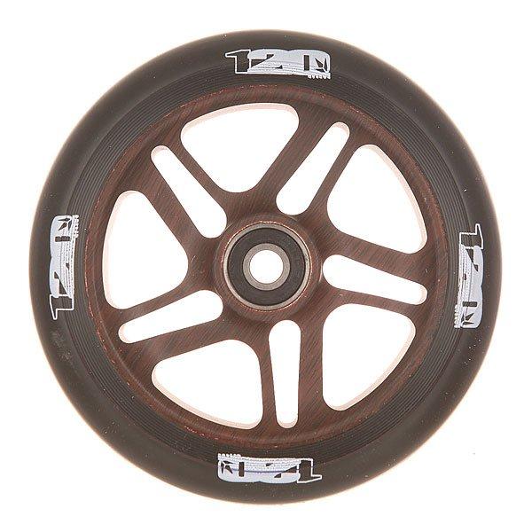 Колесо для самоката Blunt Otr Wheel 120mm WoodКолесо для самоката Blunt.Характеристики:Диаметр колес: 120 мм. Сердечник: алюминиевый, со спицами. Твердость PU: 88А.Предустановленные ABEC 9 подшипники. Вес: 275 г.<br><br>Цвет: черный,коричневый<br>Тип: Колесо для самоката<br>Возраст: Взрослый<br>Пол: Мужской