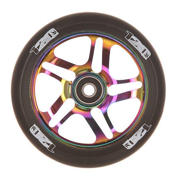 Колесо для самоката Blunt 120 Mm Wheels Oil Slick/BlackКолесо для самоката Blunt.Характеристики:Диаметр колес: 120 мм. Сердечник: алюминиевый, со спицами. Твердость PU: 88А.Предустановленные ABEC 9 подшипники. Вес: 275 г.<br><br>Цвет: черный,мультиколор<br>Тип: Колесо для самоката<br>Возраст: Взрослый<br>Пол: Мужской