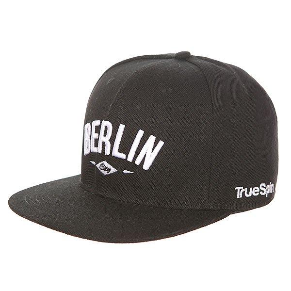 Бейсболка с прямым козырьком TrueSpin Berlin Black