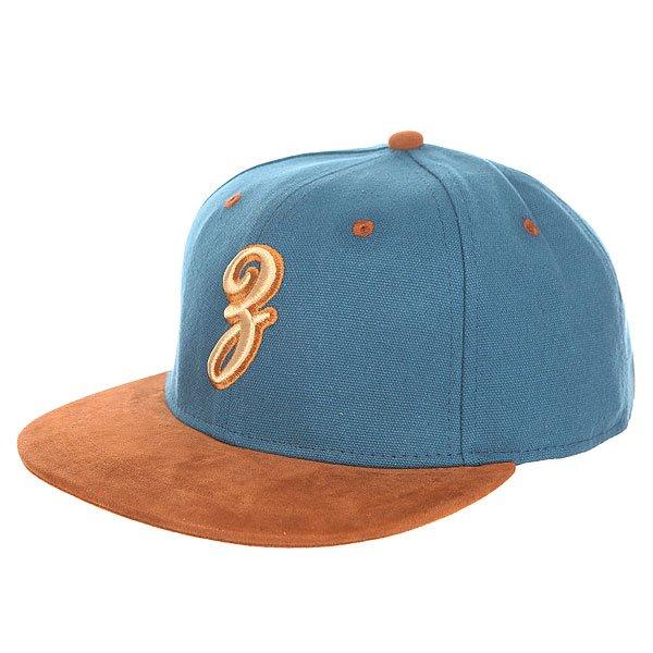 Бейсболка с прямым козырьком Запорожец Просто З Blue<br><br>Цвет: коричневый,синий<br>Тип: Бейсболка с прямым козырьком<br>Возраст: Взрослый<br>Пол: Мужской