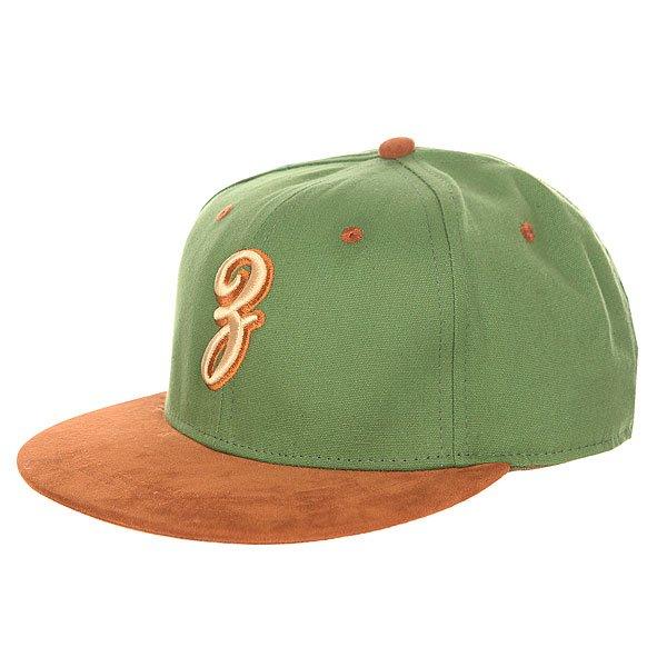 Бейсболка с прямым козырьком Запорожец Просто З Green<br><br>Цвет: коричневый,зеленый<br>Тип: Бейсболка с прямым козырьком<br>Возраст: Взрослый<br>Пол: Мужской