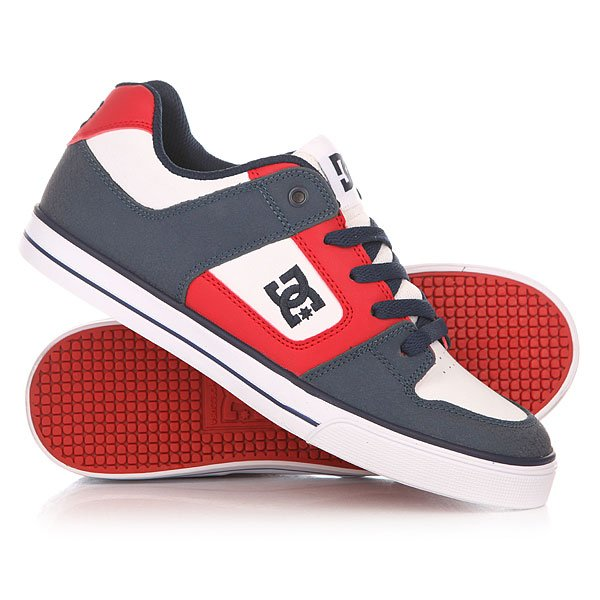 Кеды кроссовки низкие детские DC Pure B Black/Red/White