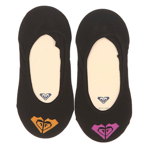 Носки низкие женские Roxy 2pk Microf. Basic Logo Invisib Black<br><br>Цвет: черный<br>Тип: Носки низкие<br>Возраст: Взрослый<br>Пол: Женский