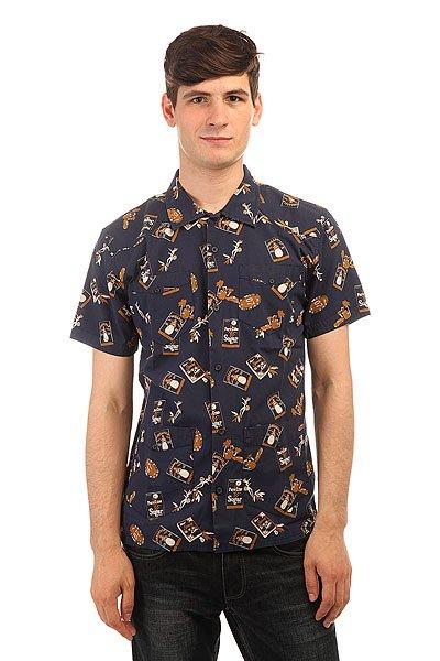 Рубашка DC Guayabera Print Habana Blue Iris<br><br>Цвет: синий<br>Тип: Рубашка<br>Возраст: Взрослый<br>Пол: Мужской