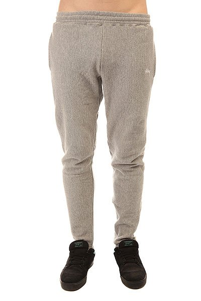 ����� ���������� Stussy Stock Fleece Pant Grey Heather