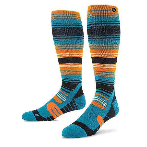 Носки высокие Stance Snow Portillo Blue<br><br>Цвет: черный,оранжевый,голубой<br>Тип: Носки высокие<br>Возраст: Взрослый<br>Пол: Мужской