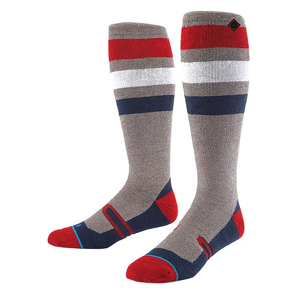 Носки высокие Stance Snow Tamarack Red<br><br>Цвет: серый,синий,красный,белый<br>Тип: Носки высокие<br>Возраст: Взрослый<br>Пол: Мужской