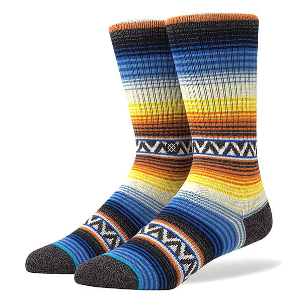 Носки средние Stance Stance Blue Sun Burst Orange