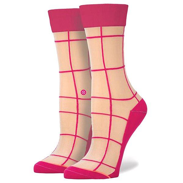 Носки средние женские Stance Retro Pink<br><br>Цвет: бежевый,розовый<br>Тип: Носки средние<br>Возраст: Взрослый<br>Пол: Женский