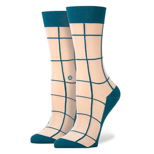 Носки средние женские Stance Retro An Teal<br><br>Цвет: бежевый,синий<br>Тип: Носки средние<br>Возраст: Взрослый<br>Пол: Женский