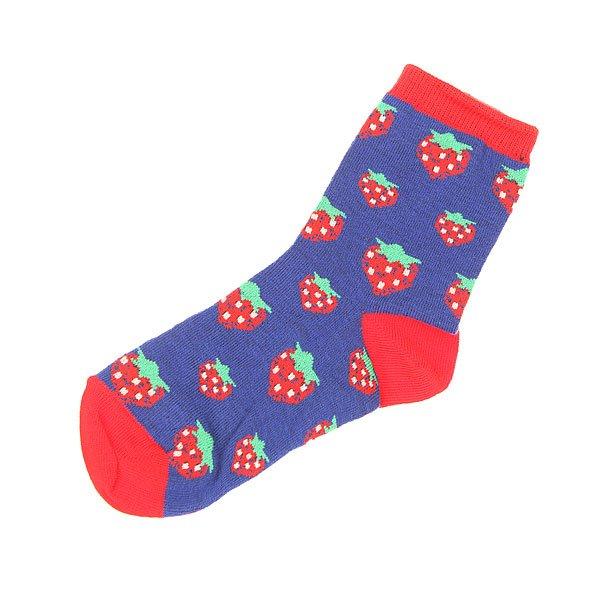 Носки средние детские Запорожец Клубника Синий/Красный<br><br>Цвет: синий,красный<br>Тип: Носки средние<br>Возраст: Детский