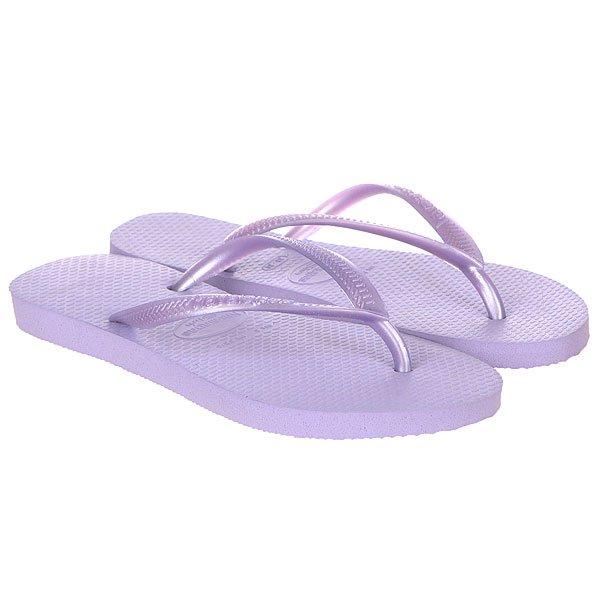 Вьетнамки женские Havaianas Slim Real Purple<br><br>Цвет: фиолетовый<br>Тип: Вьетнамки<br>Возраст: Взрослый<br>Пол: Женский