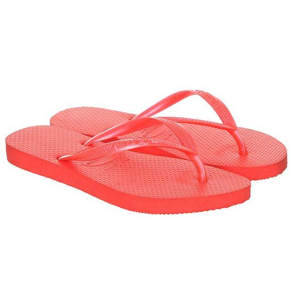 Вьетнамки женские Havaianas Slim Red<br><br>Цвет: красный<br>Тип: Вьетнамки<br>Возраст: Взрослый<br>Пол: Женский
