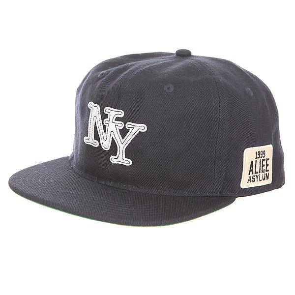 Бейсболка с прямым козырьком Alife Nueva York Snapback Peacoat<br><br>Цвет: синий<br>Тип: Бейсболка с прямым козырьком<br>Возраст: Взрослый<br>Пол: Мужской