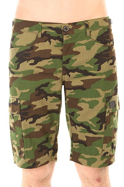 Шорты классические Skills Cargo Shorts Strap Street Camo<br><br>Цвет: зеленый,коричневый,черный<br>Тип: Шорты классические<br>Возраст: Взрослый<br>Пол: Мужской
