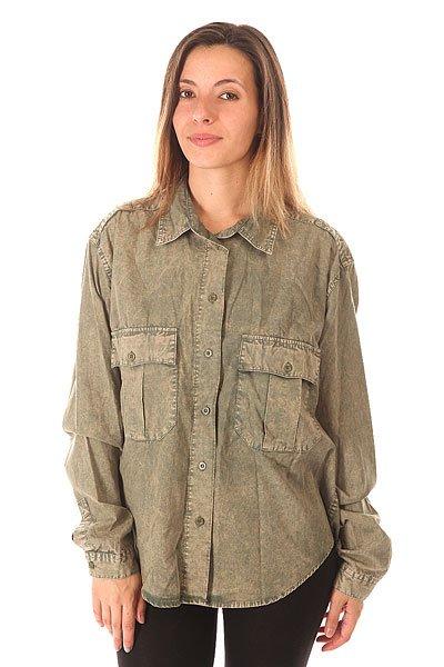 Блузка женская Insight Boys Don't Cry Navy Grey<br><br>Цвет: зеленый<br>Тип: Блузка<br>Возраст: Взрослый<br>Пол: Женский