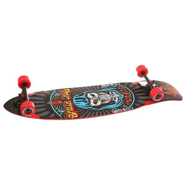 Лонгборд Santa Cruz S6 Flex Tech Trippin Cruzer Black 9.72 x 37.78 (96 см)Универсальный гибрид скейтборда и лонгборда. Вместе с прогибом slalom camber и гибкой конструкцией деки этот снаряд способен обеспечить ультраотзывчивый карвинг.Характеристики:Подвески:180mm Road Rider Cutback.Колеса: Road Rider 65mm, 78a. Прогиб: slalom camber.<br><br>Цвет: мультиколор,черный<br>Тип: Лонгборд<br>Возраст: Взрослый<br>Пол: Мужской